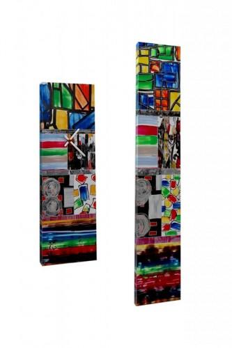 VERKOCHT Combinatie wandklok 4108 LED-object 4107